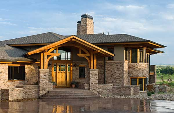 Home Exterior colorado timber home — firmfoundationsconcrete